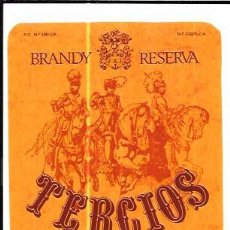 Etiquetas antiguas: ETIQUETA DE BRANDY RESERVA TERCIOS. CARLOS Y JAVIER DE TERRY. PUERTO DE SANTA MARIA.. Lote 62332464