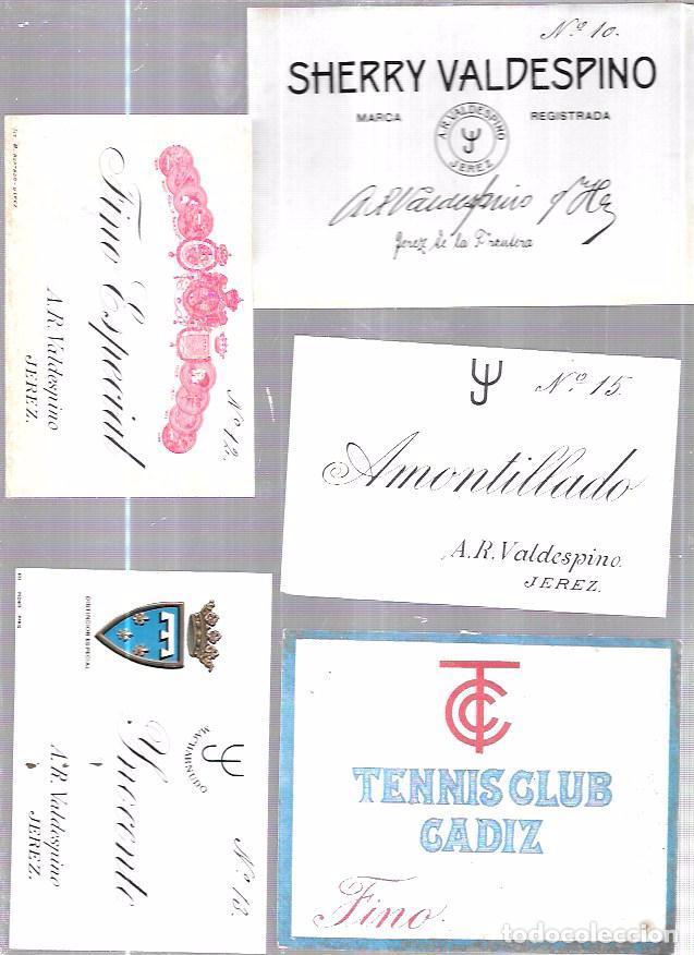 LOTE DE 33 ETIQUETAS DE VALDESPINO. JEREZ. (Coleccionismo - Etiquetas)