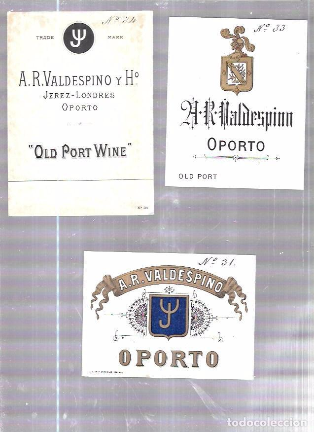 Etiquetas antiguas: LOTE DE 33 ETIQUETAS DE VALDESPINO. JEREZ. - Foto 2 - 62338916