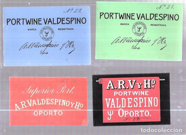 Etiquetas antiguas: LOTE DE 33 ETIQUETAS DE VALDESPINO. JEREZ. - Foto 5 - 62338916