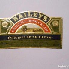 Etiquetas antiguas: ETIQUETA BAILEYS ORIGINAL IRISH CREAM. AÑOS 80. TDKP8. Lote 62965912