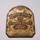 Etiquetas antiguas: ETIQUETA CHIVAS REGAL. BLENDED SCOTCH WHISKY. ABERDEEN SCOTLAND. AÑOS 80. TDKP8. Lote 62966412