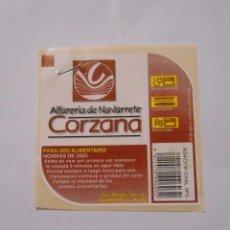 Etiquetas antiguas: ETIQUETA ALFARERIA DE NAVARRETE CORZANA. LA RIOJA. TDKP8. Lote 63373620