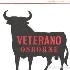 Etiquetas antiguas: VETERANO OSBORNE - POSA VASOS. Lote 65667118