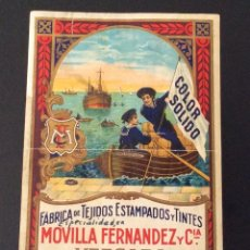 Etiquetas antiguas: VERGARA -FABRICA DE ESTAMPADOS Y TEXTILES MOVILLA Y FERNÁNDEZ YY CYA . Lote 65966858