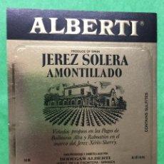 Etiquetas antiguas: ETIQUETA EMILIO LUSTAU - ALBERTI - JEREZ SOLERA AMONTILLADO - SHERRY. Lote 67546021