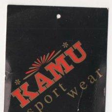 Etiquetas antiguas: ANTIGUA ETIQUETA DE ROPA KAMU SPORT WEAR. Lote 70510577