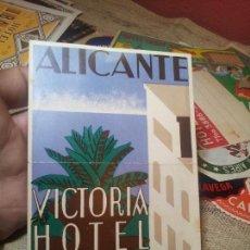 Etiquetas antiguas: ETIQUETA HOTEL- ALICANTE - HOTEL VICTORIA -ELORDI-96 X 135 MM . Lote 71162465