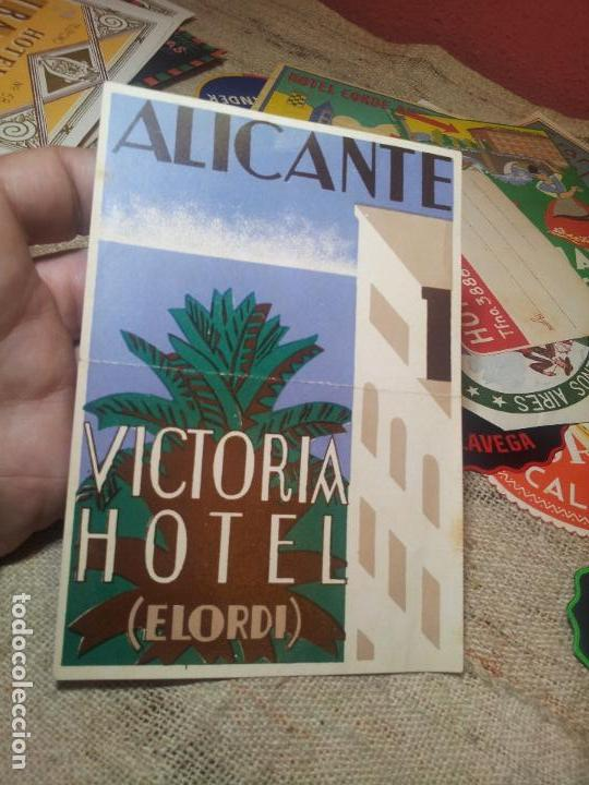 Etiquetas antiguas: ETIQUETA HOTEL- Alicante - hotel victoria -elordi-96 x 135 mm - Foto 3 - 71162465