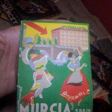 Étiquettes anciennes: ETIQUETA HOTEL-HOTEL VICTORIA MURCIA CON REVERSO ENGOMADO --NO REPRODUCCION !!!!. Lote 71162885