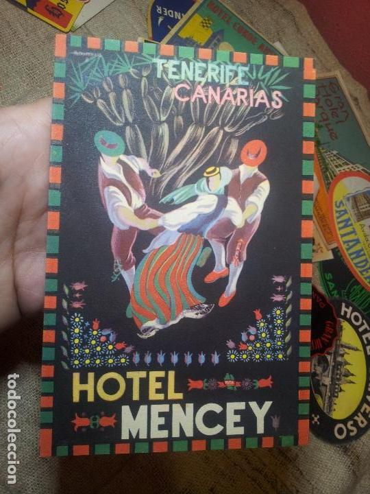 ETIQUETA HOTEL-ESPAÑA - CADENA HUSA EN CANARIAS HOTEL MENCEY- FOURNIER COLECCION PARTICULAR (Coleccionismo - Etiquetas)