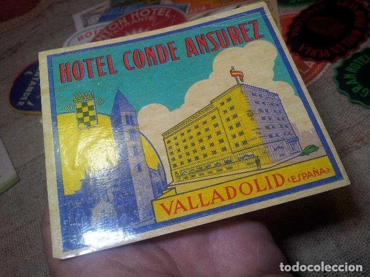 Etiquetas antiguas: - ETIQUETA HOTEL CONDE ANSUREZ, VALLADOLID- REVERSO ENGOMADO COLECCION PARTICULAR - Foto 3 - 71164337