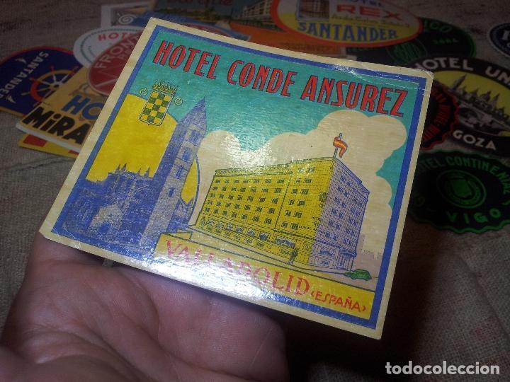 Etiquetas antiguas: - ETIQUETA HOTEL CONDE ANSUREZ, VALLADOLID- REVERSO ENGOMADO COLECCION PARTICULAR - Foto 4 - 71164337
