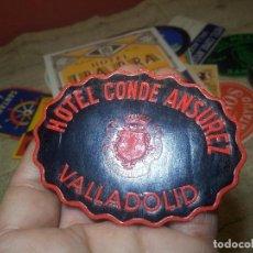 Etiquetas antiguas: ETIQUETA HOTEL CONDE ANSUREZ, VALLADOLID- REVERSO ENGOMADO COLECCION PARTICULAR . Lote 71164445