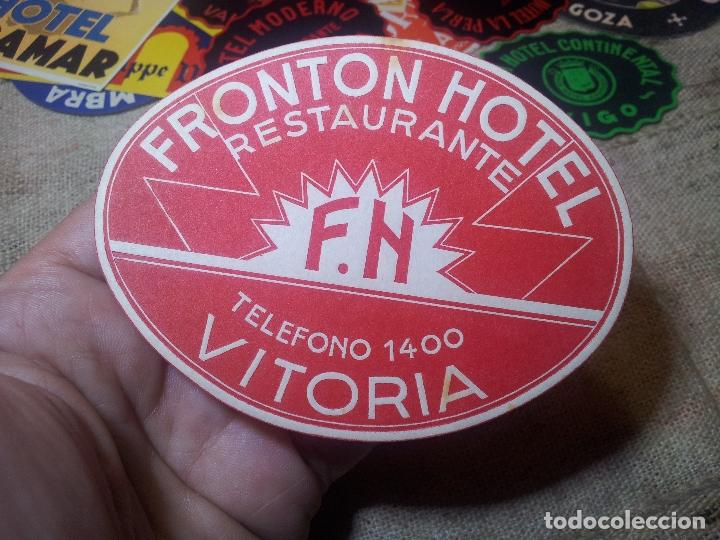 Etiquetas antiguas: FRONTON HOTEL RESTAURANTE VITORIA REVERSO ENGOMADO COLECCION PARTICULAR - Foto 2 - 71164785