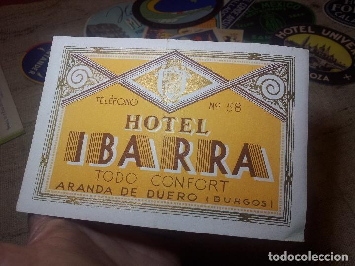 Etiquetas antiguas: Etiqueta Hotel Ibarra de Aranda de Duero, Burgos ..REVERSO ENGOMADO--ORIGINAL - Foto 3 - 71167069