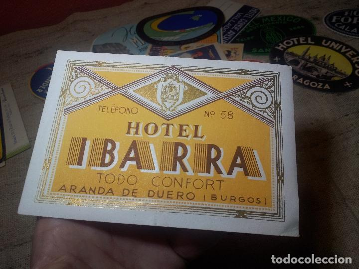 Etiquetas antiguas: Etiqueta Hotel Ibarra de Aranda de Duero, Burgos ..REVERSO ENGOMADO--ORIGINAL - Foto 4 - 71167069