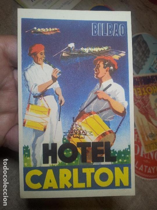 - ETIQUETA HOTEL CARLTON BILBAO - FOURNIER--ORIGINAL EPOCA COLECCION PARTICULAR (Coleccionismo - Etiquetas)