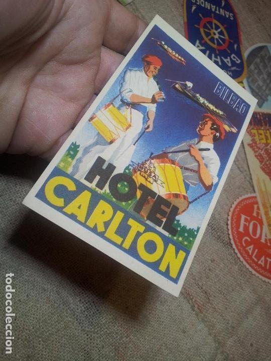 Etiquetas antiguas: - ETIQUETA HOTEL CARLTON BILBAO - FOURNIER--ORIGINAL EPOCA COLECCION PARTICULAR - Foto 3 - 71168157