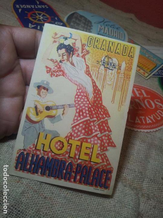ETIQUETA HOTEL ALHAMBRA PALACE GRANADA - FOURNIER--ORIGINAL EPOCA COLECCION PARTICULAR (Coleccionismo - Etiquetas)