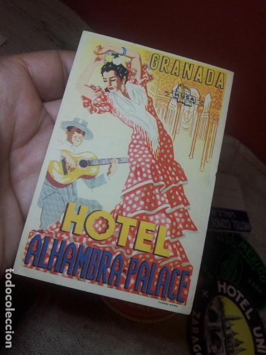 Etiquetas antiguas: ETIQUETA HOTEL ALHAMBRA PALACE GRANADA - FOURNIER--ORIGINAL EPOCA COLECCION PARTICULAR - Foto 3 - 71168389