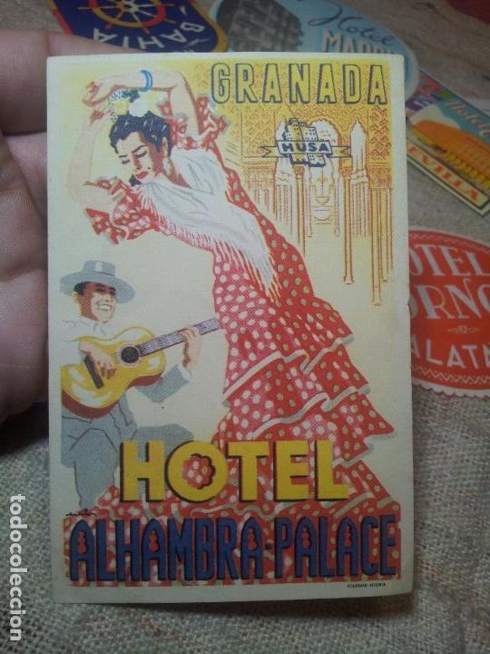 Etiquetas antiguas: ETIQUETA HOTEL ALHAMBRA PALACE GRANADA - FOURNIER--ORIGINAL EPOCA COLECCION PARTICULAR - Foto 4 - 71168389