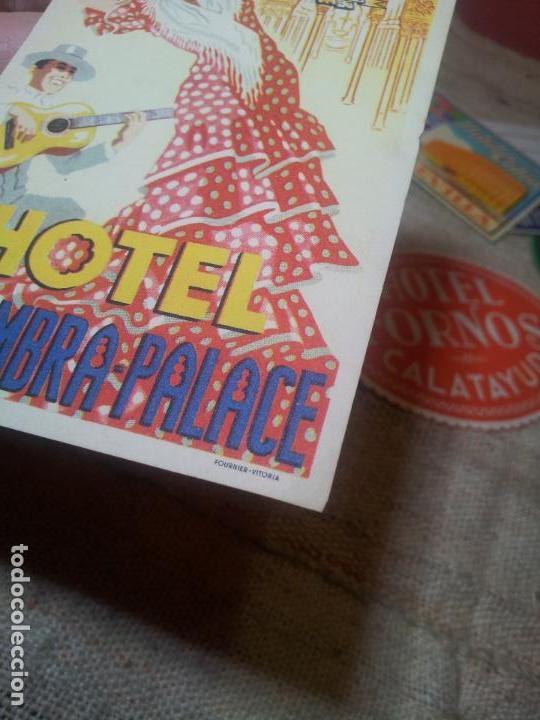 Etiquetas antiguas: ETIQUETA HOTEL ALHAMBRA PALACE GRANADA - FOURNIER--ORIGINAL EPOCA COLECCION PARTICULAR - Foto 6 - 71168389