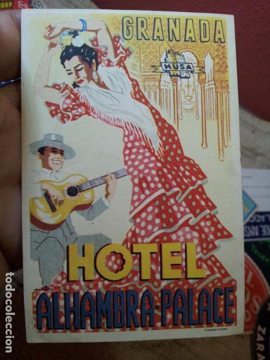 Etiquetas antiguas: ETIQUETA HOTEL ALHAMBRA PALACE GRANADA - FOURNIER--ORIGINAL EPOCA COLECCION PARTICULAR - Foto 7 - 71168389
