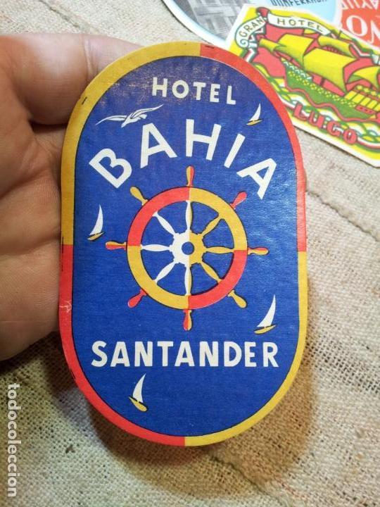 - ETIQUETA HOTEL BAHIA SANTANDER - REVERSO ENGOMADO COLECCION PARTICULAR (Coleccionismo - Etiquetas)
