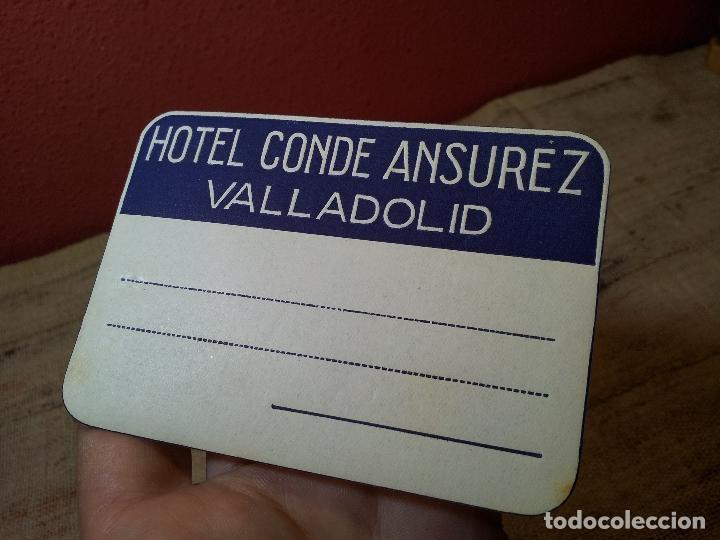 - ETIQUETA HOTEL CONDE ANSUREZ, VALLADOLID- REVERSO ENGOMADO COLECCION PARTICULAR (Coleccionismo - Etiquetas)