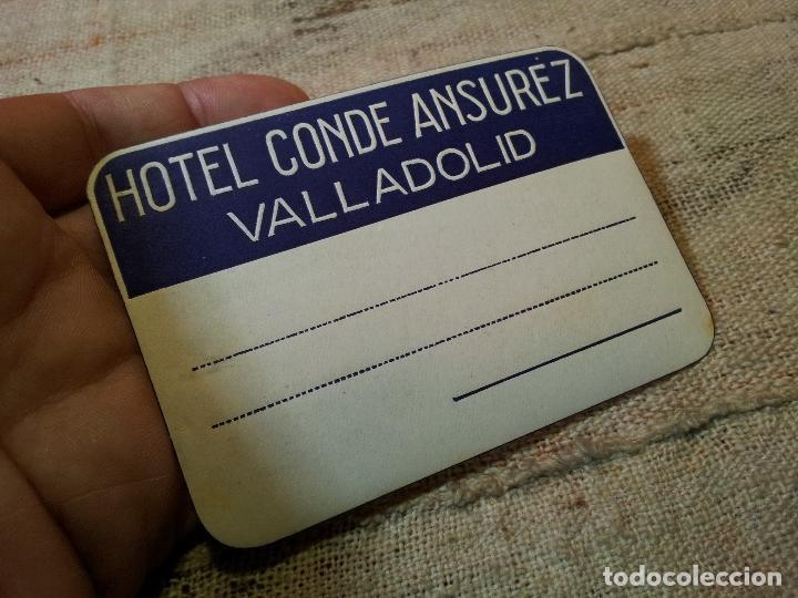 Etiquetas antiguas: - ETIQUETA HOTEL CONDE ANSUREZ, VALLADOLID- REVERSO ENGOMADO COLECCION PARTICULAR - Foto 3 - 71198445
