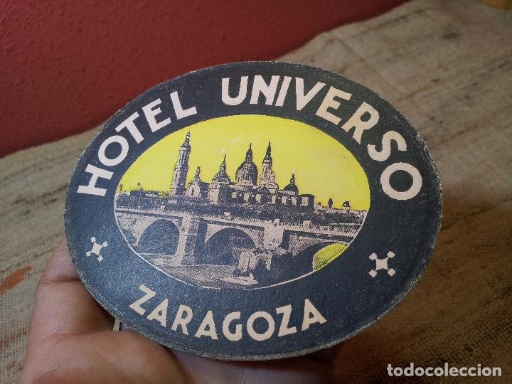- ETIQUETA HOTEL UNIVERSO ZARAGOZA - REVERSO ENGOMADO COLECCION PARTICULAR (Coleccionismo - Etiquetas)