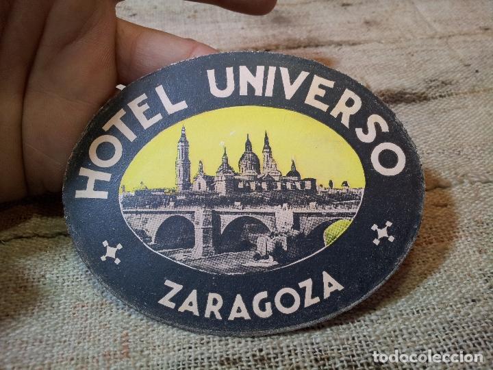 Etiquetas antiguas: - ETIQUETA HOTEL UNIVERSO ZARAGOZA - REVERSO ENGOMADO COLECCION PARTICULAR - Foto 2 - 71199153