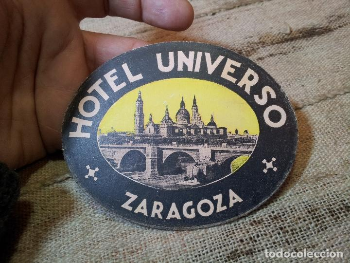 Etiquetas antiguas: - ETIQUETA HOTEL UNIVERSO ZARAGOZA - REVERSO ENGOMADO COLECCION PARTICULAR - Foto 4 - 71199153