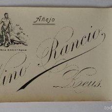 Etiquetas antiguas: ETIQUETA DE VINO RANCIO AÑEJO ,REUS, TARRAGONA. Lote 72412015