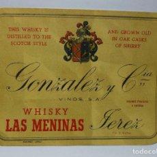 Etiquetas antiguas: ETIQUETA DE UNA BODEGA DE JEREZ DE LA FRONTERA.. Lote 74074855