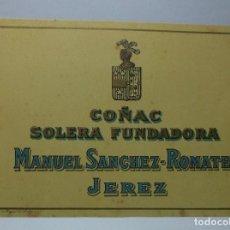 Etiquetas antiguas: ETIQUETA DE UNA BODEGA DE JEREZ DE LA FRONTERA.. Lote 74076151