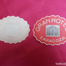Etiquetas antiguas: ETIQUETA HOTEL.GRAN HOTEL. ZARAGOZA.. Lote 74313739