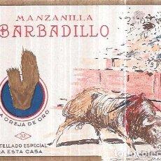 Etiquetas antiguas: ETIQUETA DE MANZANILLA BARBADILLO. LA OREJA DE ORO.. Lote 75282955