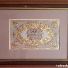 Etiquetas antiguas: HABILITACIÓN (ETIQUETA) LITOGRÁFICA FÁBRICA DE TABACOS EDÉN. HABANA. CUBA. (F. XIX-P. XX).ENMARCADA.. Lote 75555763