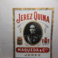 Etiquetas antiguas: ETIQUETA DE UNA BODEGA DE JEREZ FRA - ANTIGUA.. Lote 75828835