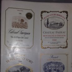 Etiquetas antiguas: LOTE DE 213 ETIQUETAS DE VINOS Y LICORES EXTRANJERA. VER FOTOS. Lote 76955761