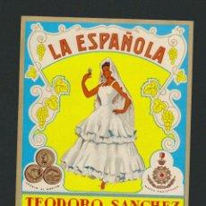 Etiquetas antiguas: ETIQUETA DE ANIS LA ESPAÑOLA.RUTE ( CÓRDOBA ).. Lote 78933337