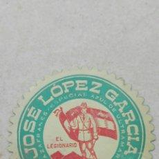 Etiquetas antiguas: ETIQUETA AZAFRANES JOSÉ LÓPEZ GARCÍA EL LEGIONARIO - ALGEZARES MURCIA. Lote 80362555
