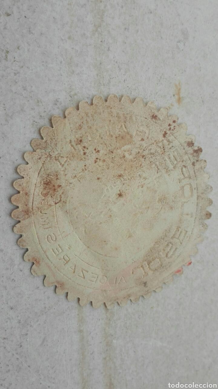 Etiquetas antiguas: Etiqueta Azafranes José López García El Legionario - Algezares Murcia - Foto 2 - 80362555