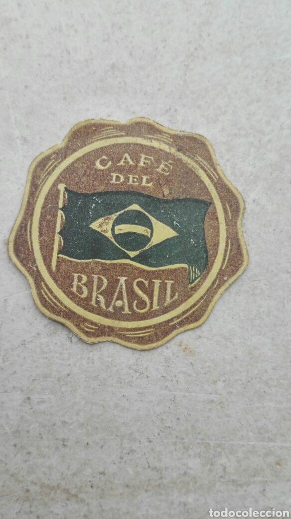 Etiquetas antiguas: Antigua Etiqueta Café del Brasil - Foto 2 - 57613842