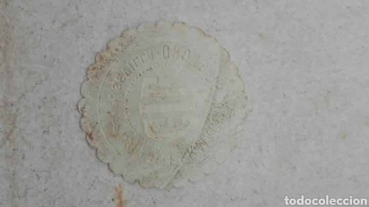 Etiquetas antiguas: Antigua Etiqueta Farmacia de El Globo Gil - Sevilla - Foto 2 - 80370939