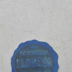 Etiquetas antiguas: ANTIGUA ETIQUETA PERFUMERÍA FLOREAL - VILLARROBLEDO -. Lote 80371211