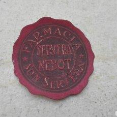 Etiquetas antiguas: ANTIGUA ETIQUETA FARMACIA SERVERA NEBOT. Lote 80371511
