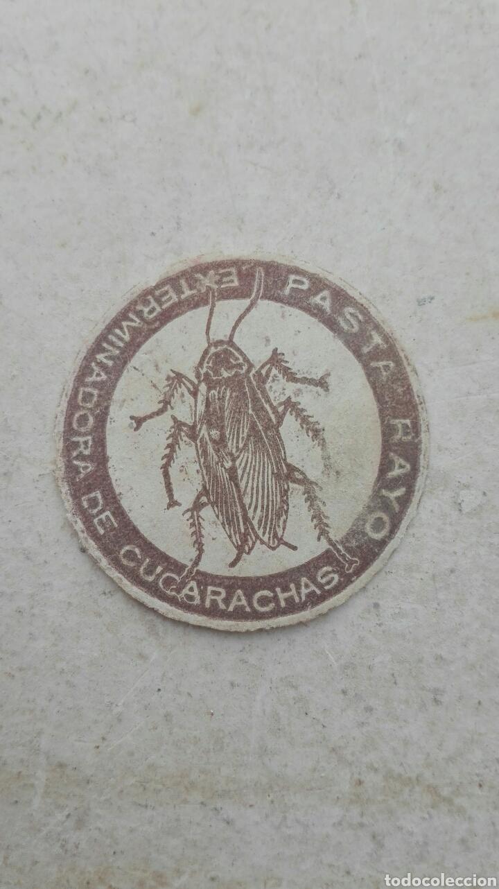 ANTIGUA ETIQUETA PASTA RAYO EXTERMINADORA DE CUCARACHAS (Coleccionismo - Etiquetas)